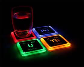 Kitchen Gadget Gift Ideas radioactive elements glowing coaster set thinkgeek