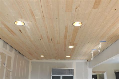 diy   install  wood planked ceiling   wood