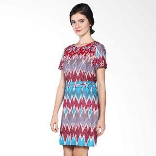 Dress Batik V Dress Batik Kantor Dress Batik Kondangan 35 model dress batik modern masa kini 2018 terbaru