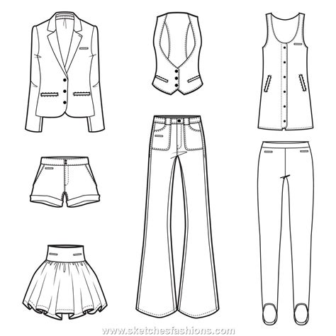 Sketches Clothes by Flat Clothing Design Sketches Portfolio And Technical