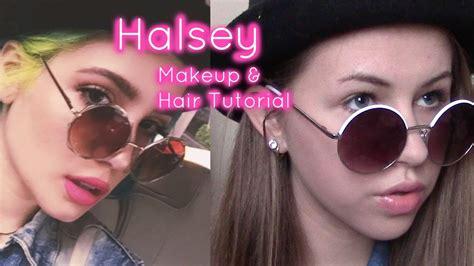 hair and makeup tutorials youtube halsey hair and makeup tutorial youtube