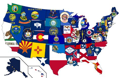 usa map states flags the 50 state igaming initiative montana to new jersey