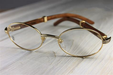 vintage cartier giverny palisander rosewood eyeglasses