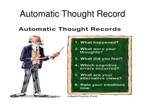 categories of distorted automatic thoughts 17