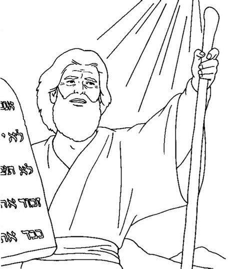 free coloring page moses 10 commandments free coloring pages of moses ten commandments