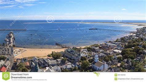 city cape cod provincetown massachusetts cape cod city view stock