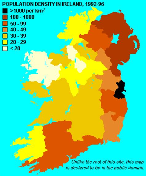 population map of ireland settlement and towns in ireland