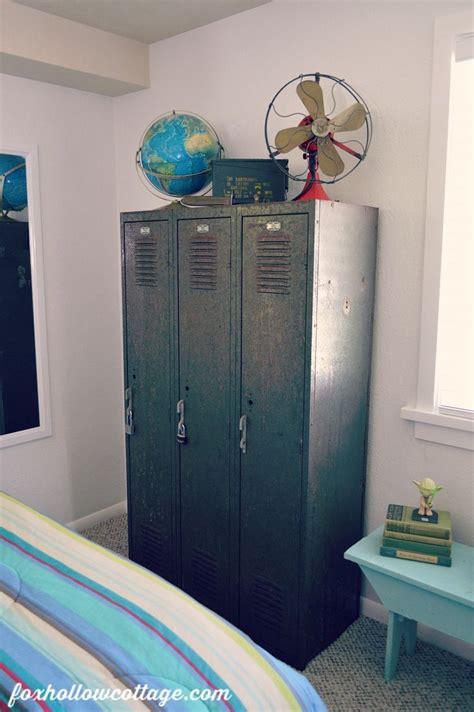 lockers for bedroom teen boy bedroom makeover part one vintage boys