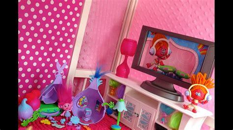 troll doll house american girl trolls dollhouse poppy youtube