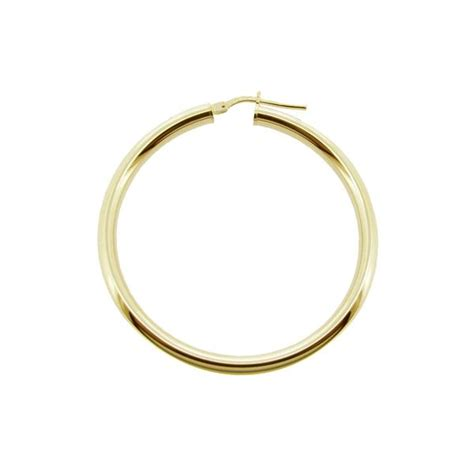 Sleeper Studs by 9ct Gold Plated Small To Large Polished 3mm Hoop Sleeper