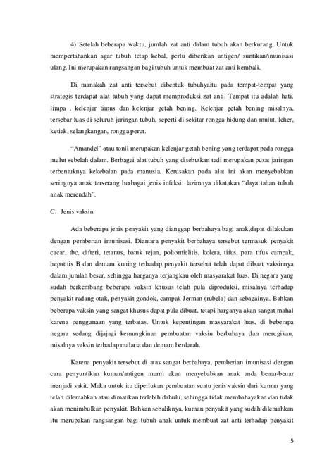 makalah membuat ringkasan makalah imunisasi pramudito hutomo 6135101764