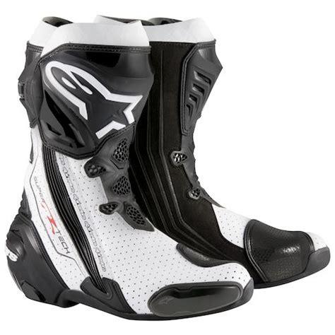 Dijamin Alpinestar Smx Plus Black White Vent Alpinestars Supertech R Boots Revzilla