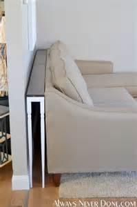 Diy Sofa Table Hometalk Diy Thin Sofa Table