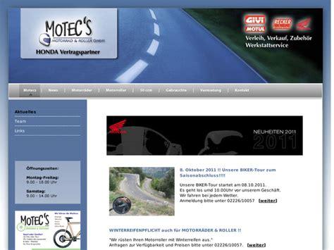 Motorrad Honda Rheinbach by Motec S Motorr 228 Der Motorroller In Rheinbach