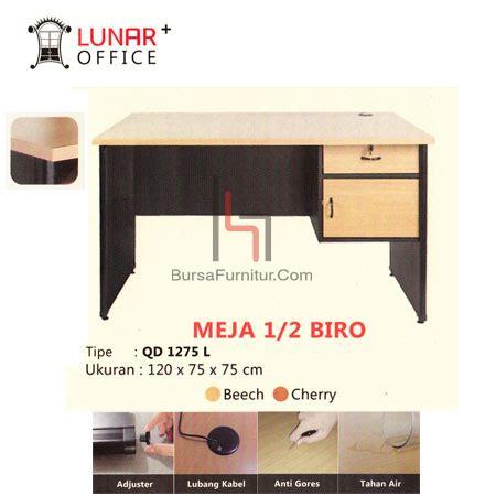 Lunar Meja Kerja 2260 L lunar qd1275l meja 1 2 biro bursafurnitur toko