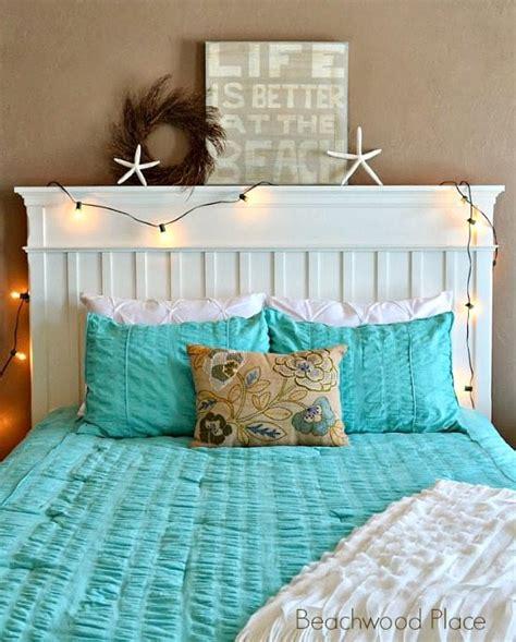 Delightful Aqua Christmas Lights #5: Beach-sign-on-headboard1.jpg