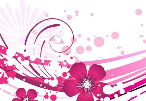 pink abstract wallpaper vector pink flower with abstract background vector graphic free