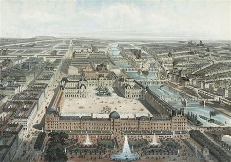 Or Vue File Moderne Les Tuileries Le Louvre Et La Rue De Rivoli Vue Prise Du Jardin Des
