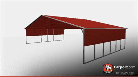 Metal Carport Side Panels 40 x 26 vertical roof metal carport with side panels metal carports info