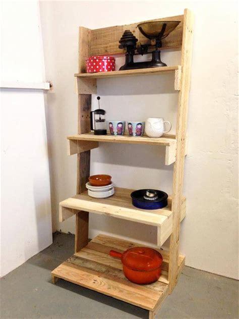 diy pallet ladder shelves unit 101 pallets