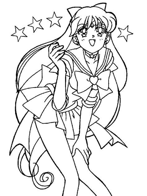 Sailor V Coloring Pages by Sailor Venus Coloring Pages
