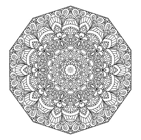 Pics For Gt Advanced Mandala Coloring Pages Printable Mandala Coloring Book For