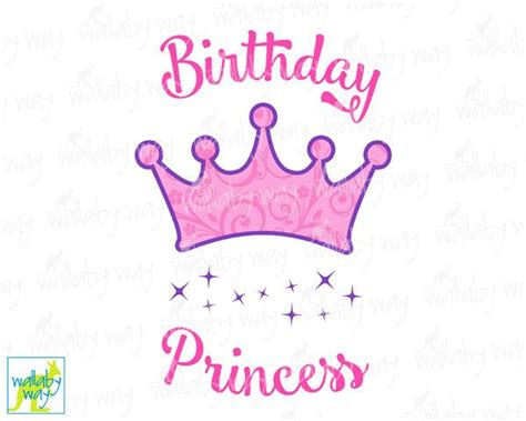 printable birthday girl crown birthday princess printable iron on transfer or use as