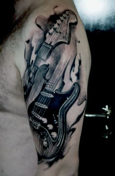 guitar tattoos for men 65 guitar tattoos for acoustic and electric designs
