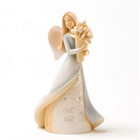Foundations Get Well Mini Angel Figurine: Fitzula's Gift Shop