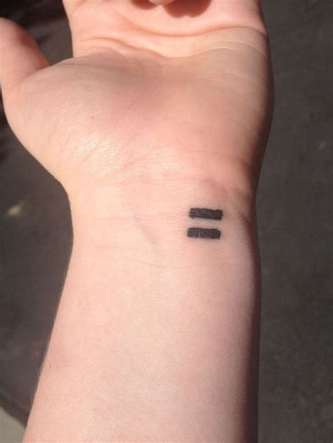 small sign tattoos 15 stylish equality wrist tattoos