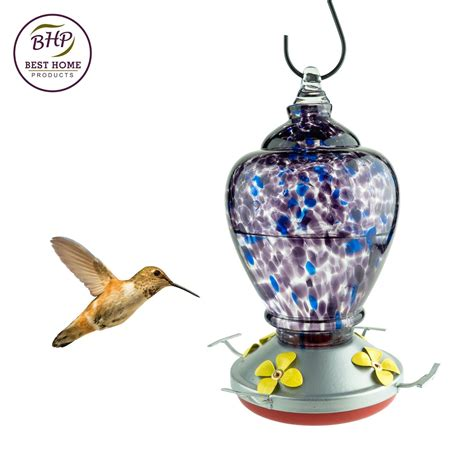 autumn impressions purple hummingbird feeder with perch