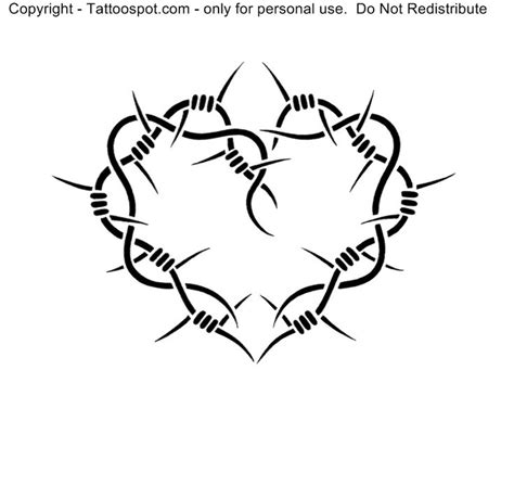 barbed wire heart tattoo designs barbed wire drawing