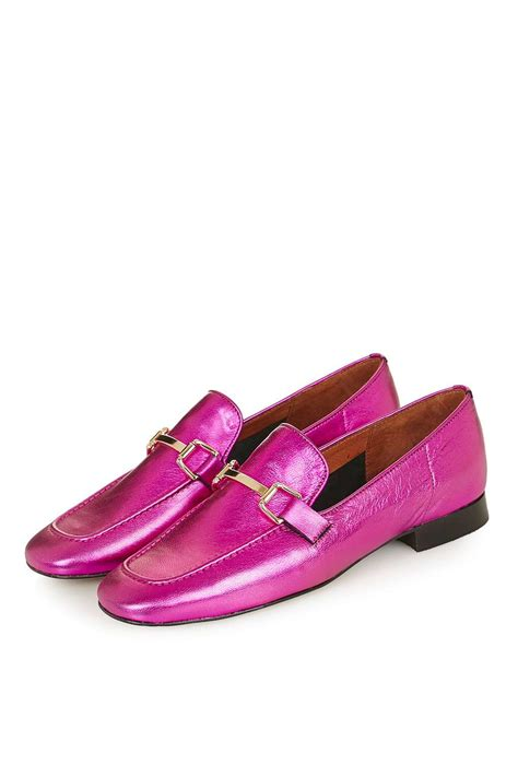 pink loafers topshop loafer in pink lyst