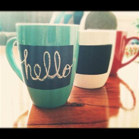 diy chalk paint mugs chalkboard mugs choose your colour white by