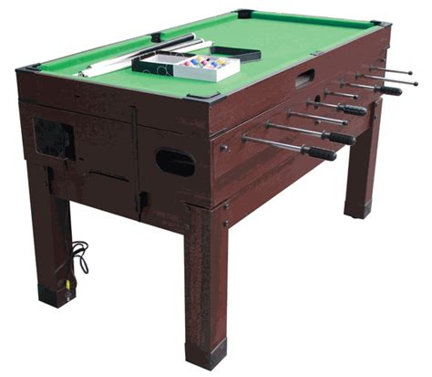Combination Tables by Playcraft Danbury 14 In 1 Espresso Combination Table