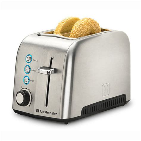 Wide Toaster Toastmaster 2 Slice Deluxe Stainless Steel Toaster Wide