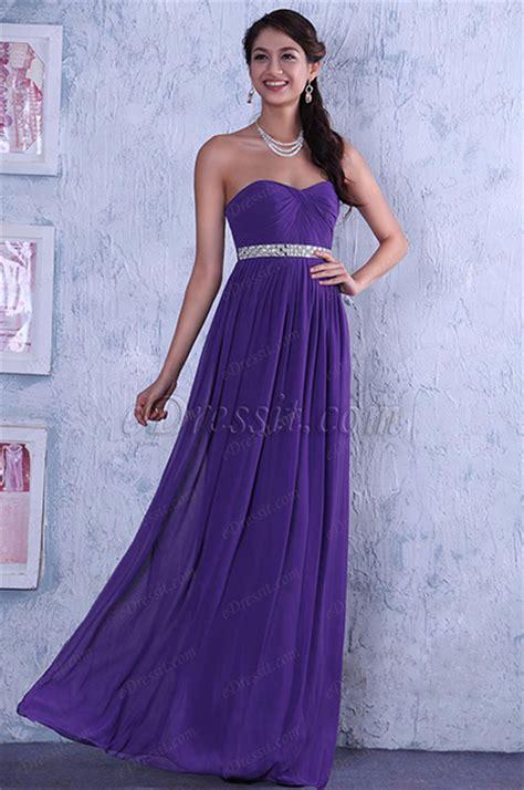 elegant strapless   evening dress bridesmaid dress