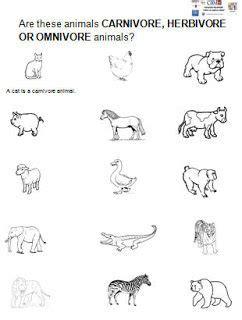 herbivorous animals coloring page herbivore carnivore worksheet for kindergarten ceip
