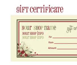 Gift Certificate Printable Template Free by Printable Gift Certificates New Calendar Template Site