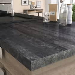 plan de travail stratifi 233 new vintage wood noir mat l 315