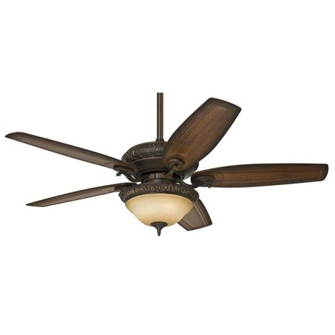Indoor Ceiling Fan With Light Shop 54 In Brushed Cocoa Indoor Downrod Or Mount Ceiling Fan With Light Kit At