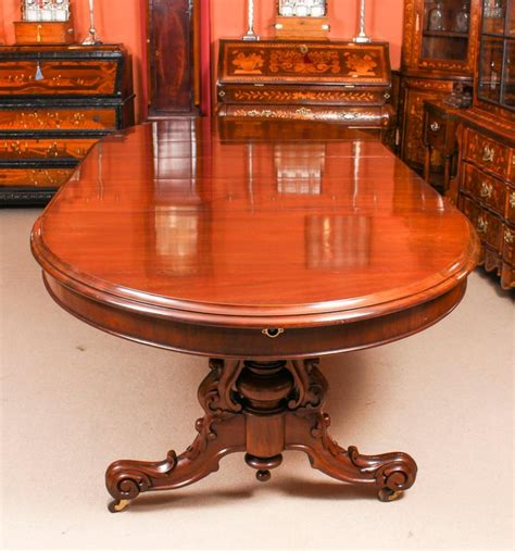 antique victorian ft mahogany twin base extending dining