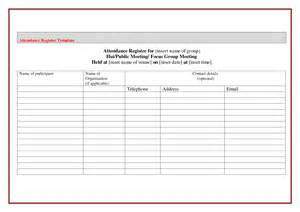 Employee Register Template by 10 Best Images Of Attendance Forms Templates Sle