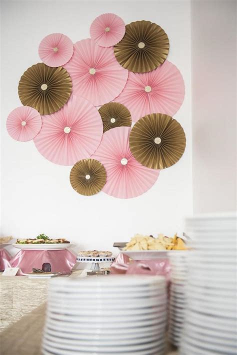 Pink And Gold Baby Shower Decor by Royal Pink Gold Baby Shower