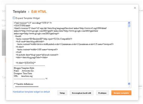 tutorial edit blogger tutorial edit tata letak widget blogger yang tidak bisa
