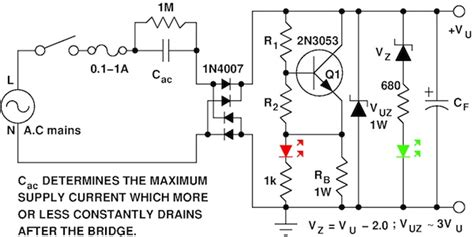 transformer resistor circuit ac power your circuit without a transformer edn