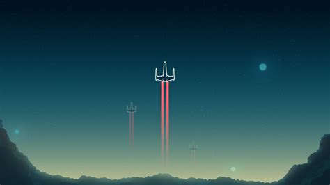 wallpaper  wing starfighter minimal  minimal