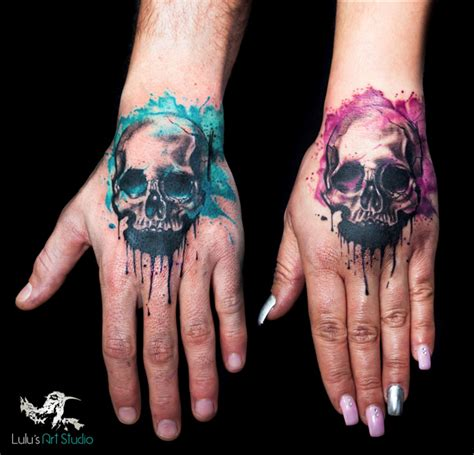 his and hers skull tattoos we are the best miami shop according to pembroke