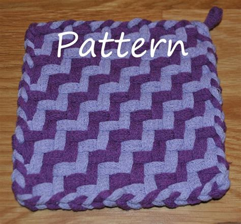 potholder loom pattern pattern instructions for staircase potholders