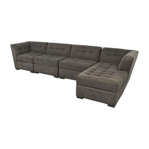 gray tufted sofa macys 70 macy s macy s grey tufted four chaise